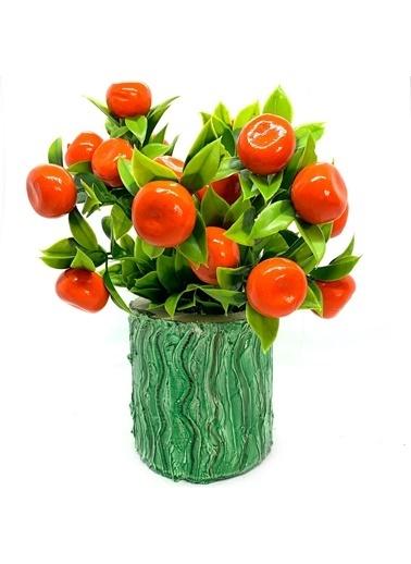 Çiçek Antalya Çiçek Antalya Ida Yapay Mini Portakal Ağacı 30 Cm Yeşil
